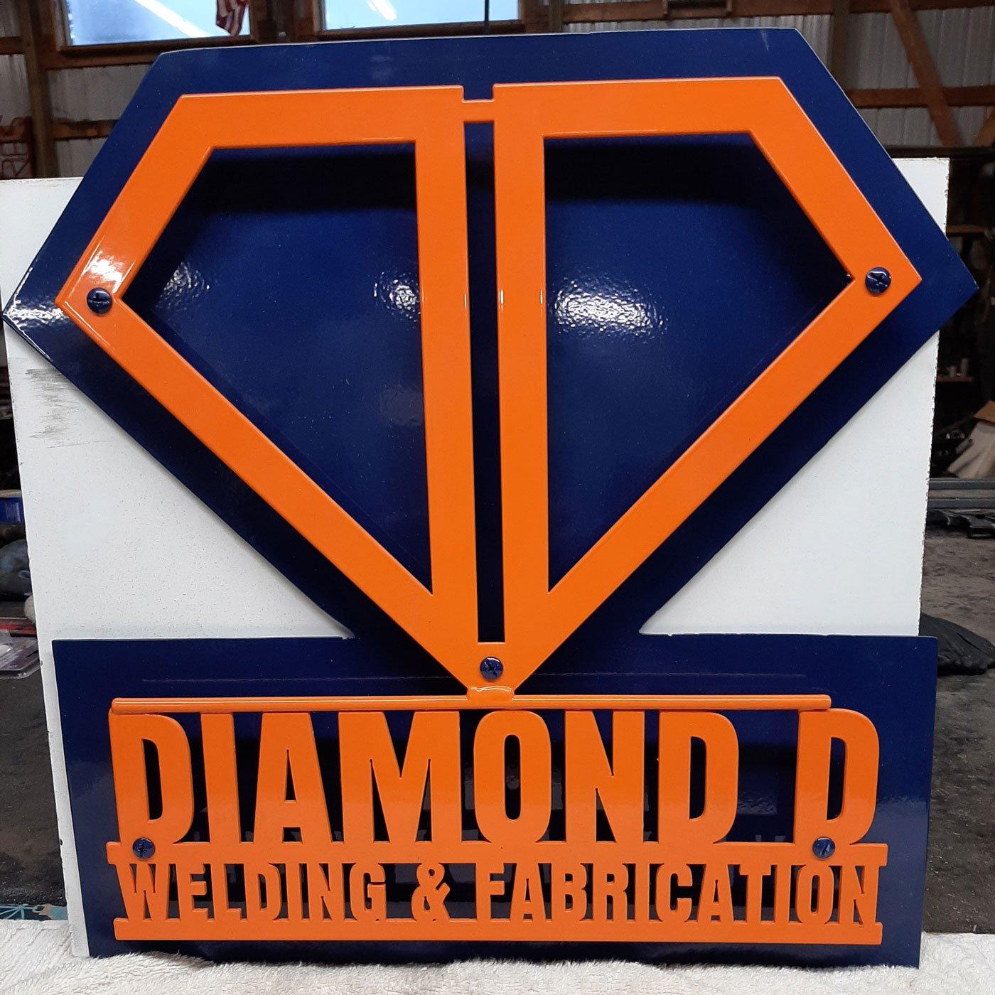 Diamond D Welding Sign